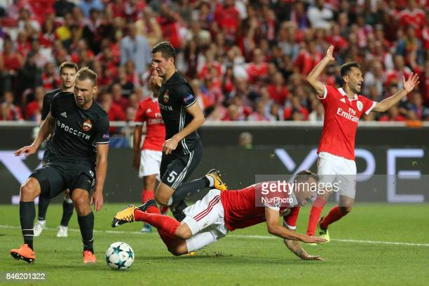 Benficas forward Haris Seferovic from Switzerland during the SL Benfica v CSKA Moskva UEFA Champions League round one match at Estadio da Luz on...