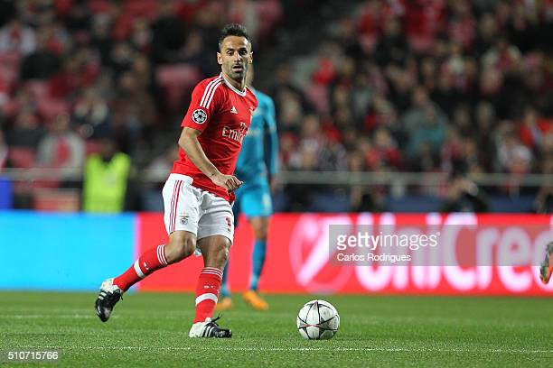 Benfica's forward Jonas during the match between SL Benfica and FC Zenit for the UEFA Champions League Round of 16 First Leg at Estadio da Luz on...