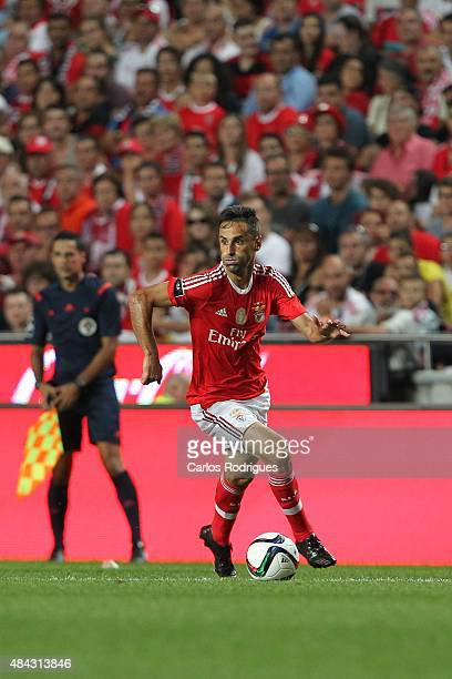 Benfica's forward Jonas during the match between SL Benfica and Estoril Praia at Estadio da Luz on August 16 2015 in Lisbon Portugal