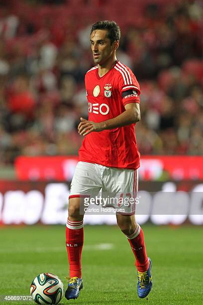 Benfica's forward Jonas during the Portuguese First League match SL Benfica v FC Arouca at Estadio da Luz on October 5 2014 in Lisbon Portugal