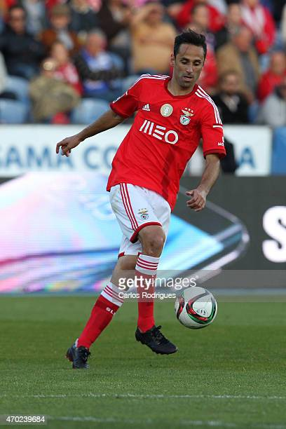 Benfica's forward Jonas during the Primeira Liga match between Belenenses and Benfica at Estadio do Restelo on April 18 2015 in Lisbon Portugal