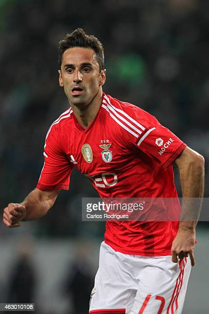 Benfica's forward Jonas during the Primeira Liga match between Sporting CP and SL Benfica at Estadio Jose Alvalade on February 08 2015 in Lisbon...