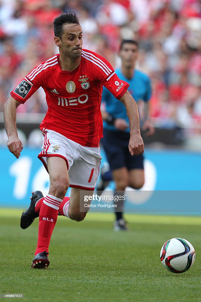 Benfica's forward Jonas during the Primeira Liga Portugal match between Benfica and Academica at Estadio da Luz on April 12, 2015 in Lisbon, Portugal.