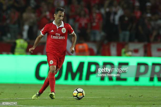 Benfica's forward Jonas from Brasil during the match between SL Benfica and VSC Guimaraes at Estadio Municipal de Aveiro on August 05 2017 in Lisbon...