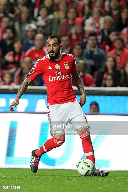 Benfica's forward Kostas Mitroglou during the match between SL Benfica and FC Arouca at Estadio da Luz on January 23 2016 in Lisbon Portugal