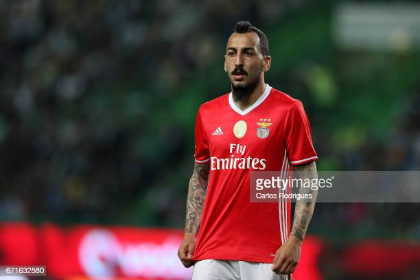 Benfica's forward Kostas Mitroglou from Greece during the Sporting CP v SL Benfica Portuguese Primeira Liga match at Estadio Jose Alvalade on April...