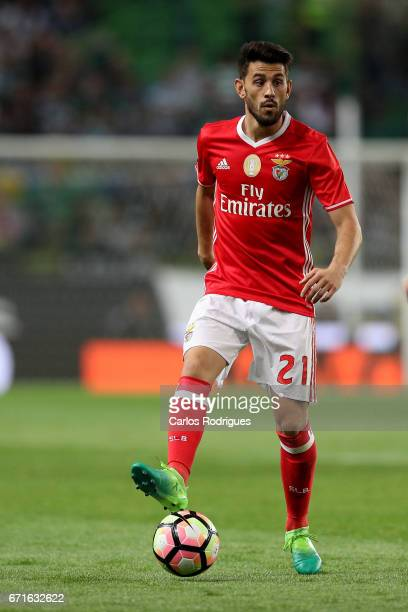Benfica's forward Pizzi from Portugal during the Sporting CP v SL Benfica Portuguese Primeira Liga match at Estadio Jose Alvalade on April 22 2017 in...