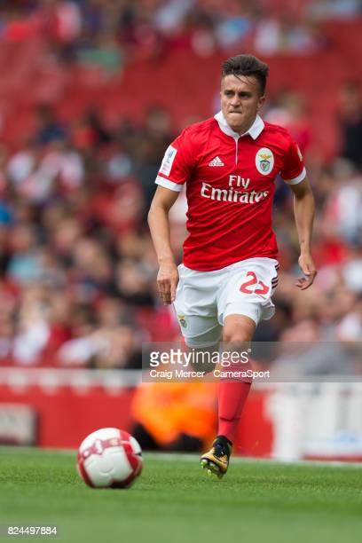 Benficas Franco Cervi in action during the Emirates Cup match between RB Leipzig and SL Benfica at Emirates Stadium on July 30 2017 in London England