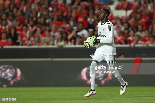 Benfica's goalkeeper Bruno Varela from Portugal during the match between SL Benfica and CF Belenenses for the third round of the Portuguese Primeira...