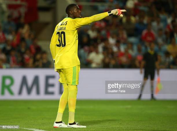 Benfica's goalkeeper Bruno Varela from Portugal in action during the Algarve Cup match between SL Benfica and Hull City at Estadio Algarve on July 22...