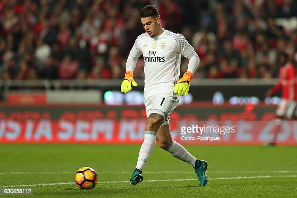 Benfica's goalkeeper Ederson from Brasil during the SL Benfica v FC Pacos de Ferreira Portuguese Cup at Estadio da Luz on December 29 2016 in Lisbon...