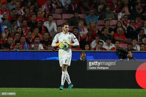 Benfica's goalkeeper Ederson from Brazil during SL Benfica v FC Dynamo Kyiv UEFA Champions League round four match at Estadio da Luz on November 01...