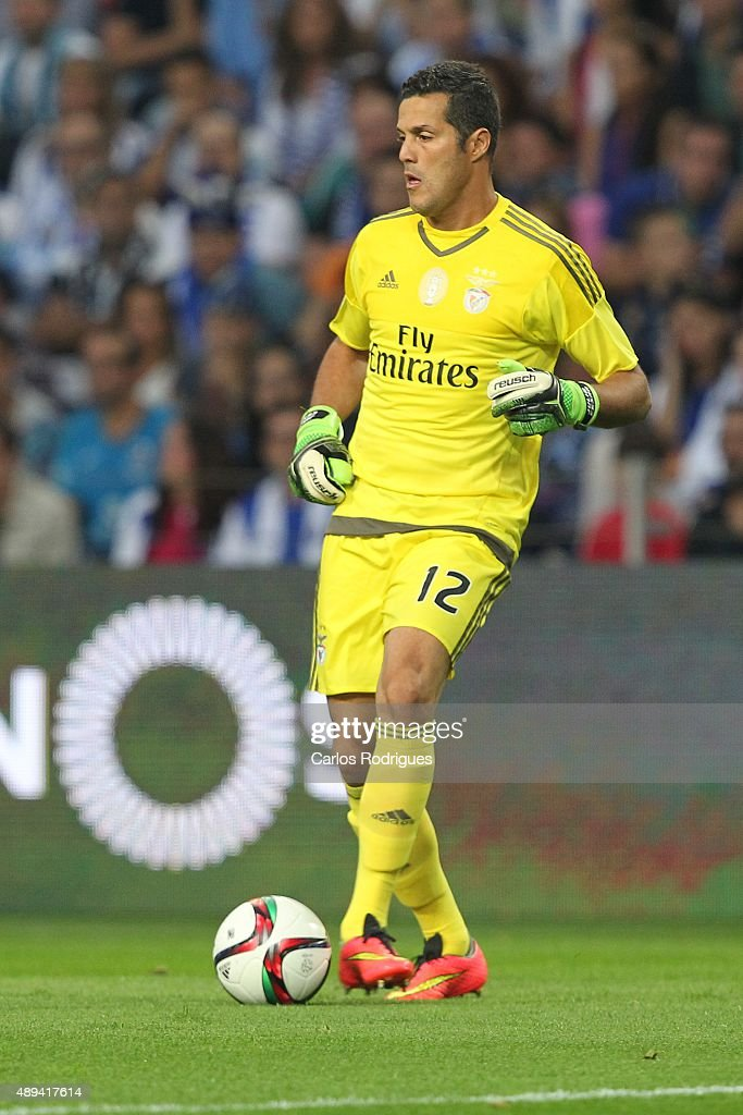 Benfica's goalkeeper Julio Cesar during the match between FC Porto and SL Benfica for the Portuguese Primeira Liga at Estadio do Dragao on September 20, 2015 in Porto, Portugal.