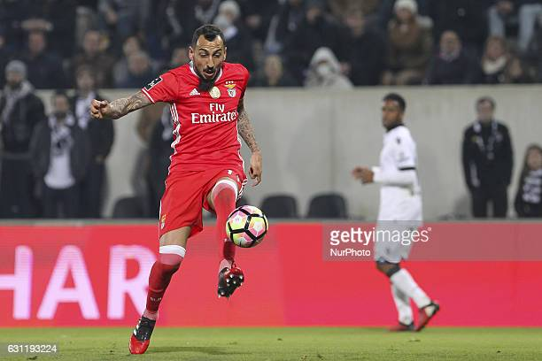 Benfica's Greek forward Kostas Mitroglou during the Premier League 2016/17 match between Vitoria SC and SL Benfica at Dao Afonso Henriques Stadium in...