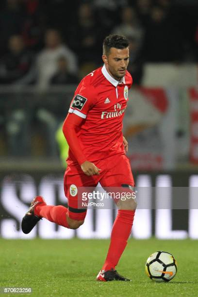 Benfica's Greek midfielder Andreas Samaris during the Premier League 2017/18 match between Vitoria SC and SL Benfica at Dao Afonso Henriques Stadium...