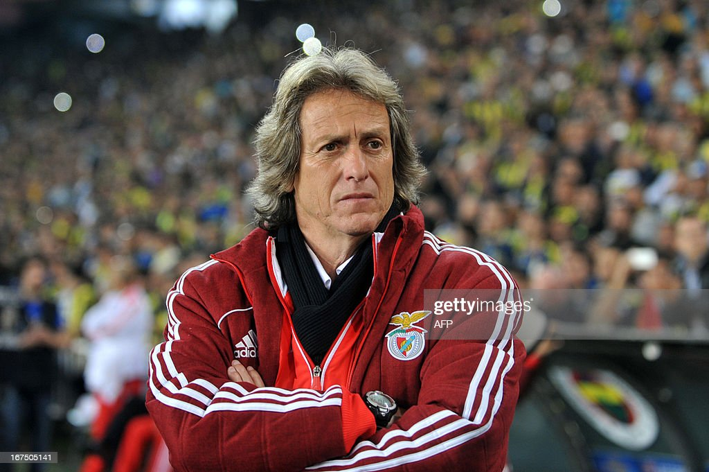 Benfica's head coach Jorge Jesus attends an UEFA Europa League semi-final football match between Fenerbahce and Benfica at Sukru Saracoglu stadium on April 25, 2013 in Istanbul.