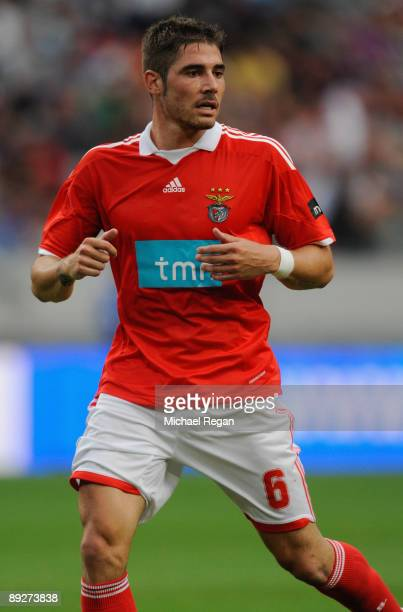 Benfica's Javier Garcia during the Amsterdam Tournament match between Sunderland and Benfica at the Amsterdam Arena on July 24 2009 in Amsterdam...