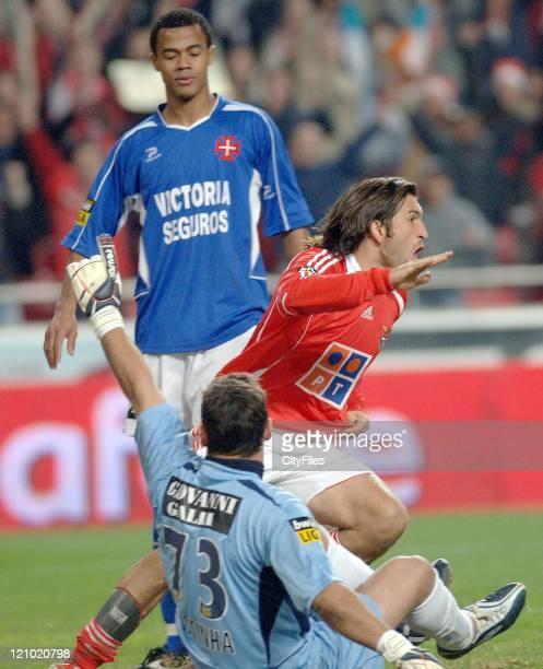 Benfica's Kikin during the Portuguese Bwin League match against Belenenses December 21 2006 in Lisbon Portugal