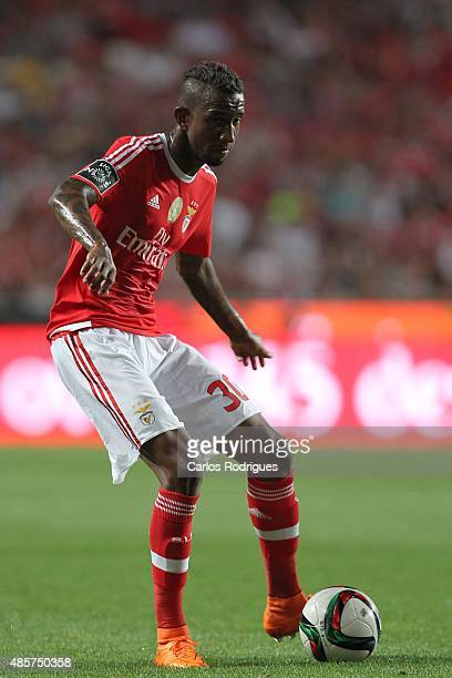 Benfica's midfielder Anderson Talisca during the match between SL Benfica and Moreirense FC at Estadio da Luz on August 29 2015 in Lisbon Portugal