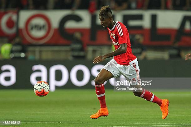 Benfica's midfielder Anderson Talisca during the Portuguese Super Cup match between SL Benfica and Sporting CP at Estadio Algarve on August 9 2015 in...