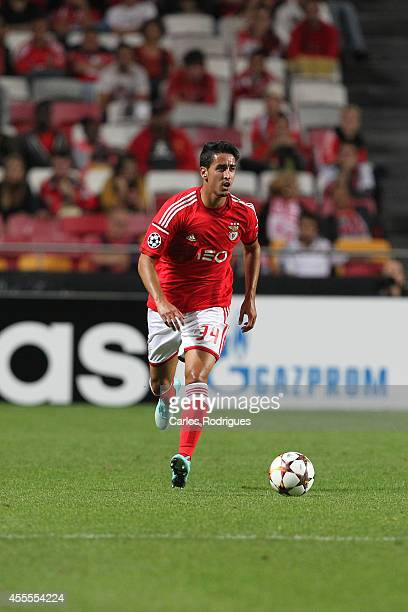 Benfica's midfielder Andre Almeida during the Champions League match between Benfica and Zenit on September 16 2014 in Lisbon Portugal