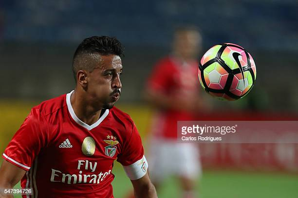Benfica's midfielder Andre Almeida during the Pre Season match between SL Benfica and Vitoria Setubal at Estadio do Algarve on July 14 2016 in Faro...