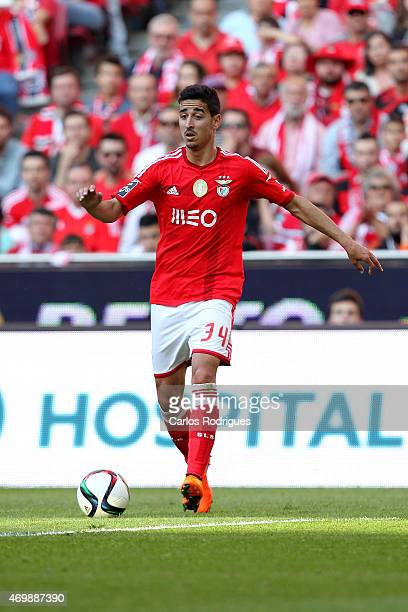 Benfica's midfielder Andre Almeida during the Primeira Liga Portugal match between Benfica and Academica at Estadio da Luz on April 12 2015 in Lisbon...