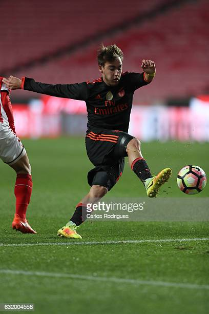 Benfica's midfielder Andre Horta from Portugal during the match between SL Benfica and Leixoes for the Portuguese cup at Estadio da Luz on January 18...