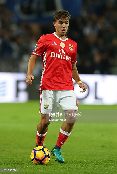 Benfica's midfielder Andre Horta in action during the Primeira Liga match between FC Porto and SL Benfica at Estadio do Dragao on November 6 2016 in...