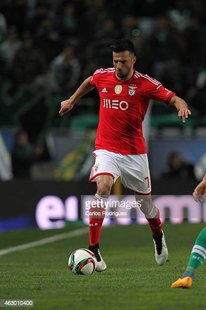 Benfica's midfielder Andreas Samaris during the Primeira Liga match between Sporting CP and SL Benfica at Estadio Jose Alvalade on February 08 2015...