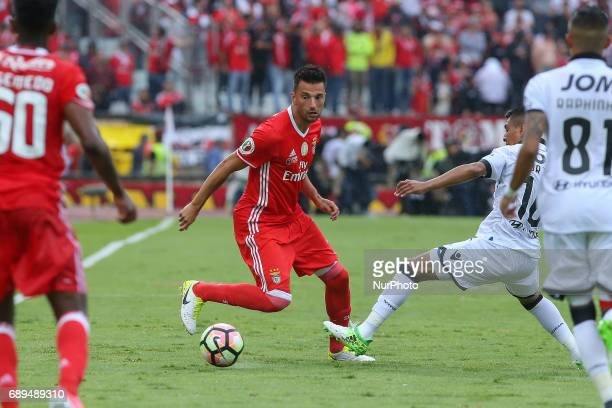 Benficas midfielder Andreas Samaris from Greece during the match between SL Benfica and Vitoria SC for the Portuguese Cup Final at Estadio Nacional...