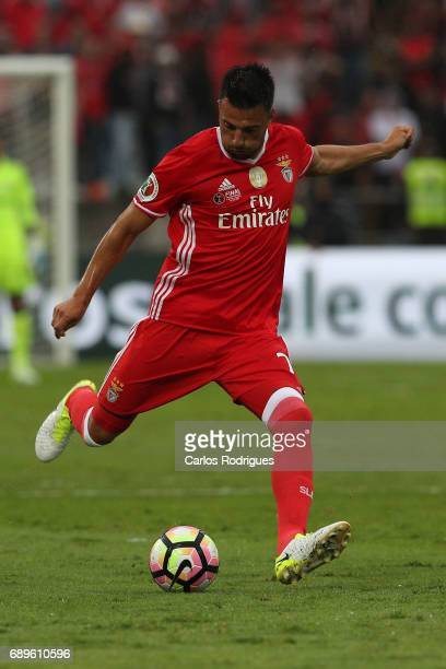 Benfica's midfielder Andreas Samaris from Greece during the match between SL Benfica and Vitoria SC for the Portuguese Cup Final at Estadio Nacional...