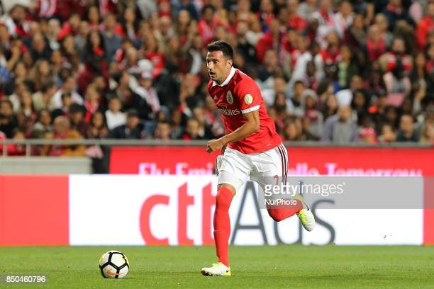 Benficas midfielder Andreas Samaris from Greece during the Portuguese Cup 2017/18 match between SL Benfica v SC Braga at Luz Stadium in Lisbon on...