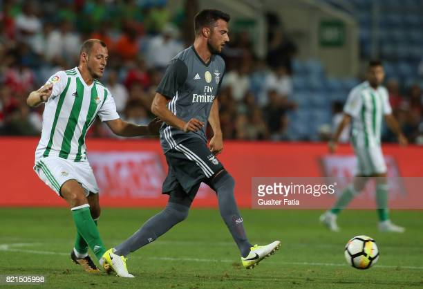 Benfica's midfielder Andreas Samaris from Greece in action during the Algarve Cup match between SL Benfica and Real Betis at Estadio Algarve on July...