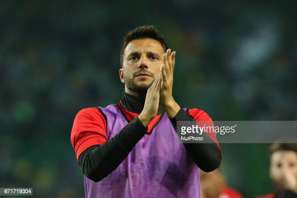 Benficas midfielder Andreas Samaris from Greece thanking the supporters at the end of the match during Premier League 2016/17 match between Sporting...