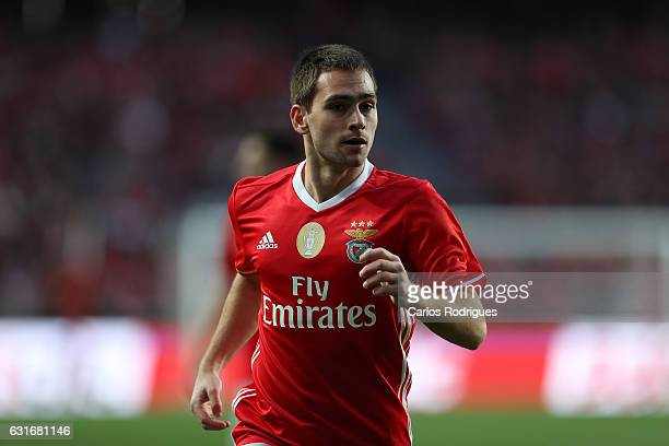 Benfica's midfielder Andrija Zivkovic from Serbia during the match between SL Benfica and Boavista FC for the Portuguese Primeira Liga at Estadio da...