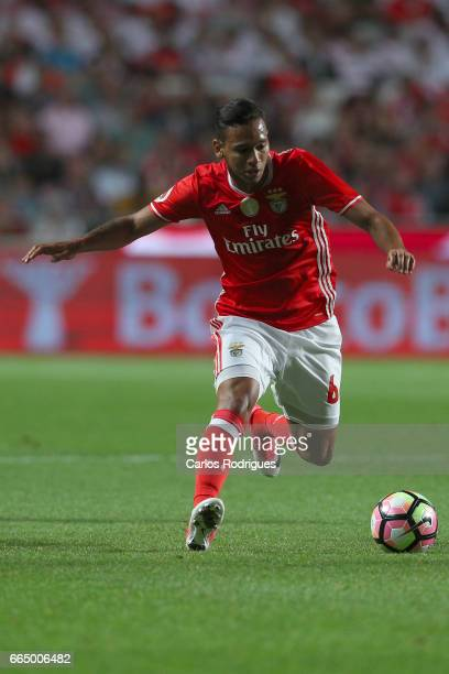 Benfica's midfielder Filipe Augusto from Brasil during the match between SL Benfica and Estoril Praia SAD for the Portuguese Cup semi finals second...