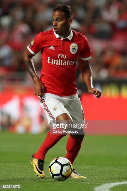 Benfica's midfielder Filipe Augusto from Brasil during the match between SL Benfica and SC Braga for the Portuguese Taca da Liga at Estadio da Luz on...
