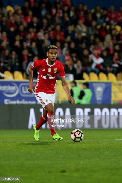Benficas midfielder Filipe Augusto from Brazil during Portuguese Cup match between Estoril PS v SL Benfica at Estadio Antonio Coimbra da Mota in...