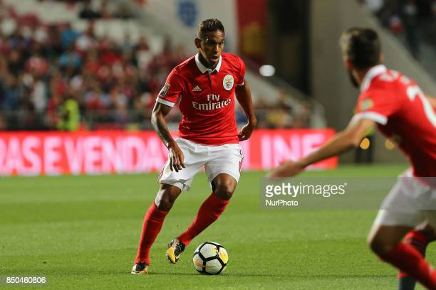 Benficas midfielder Filipe Augusto from Brazil during the Portuguese Cup 2017/18 match between SL Benfica v SC Braga at Luz Stadium in Lisbon on...