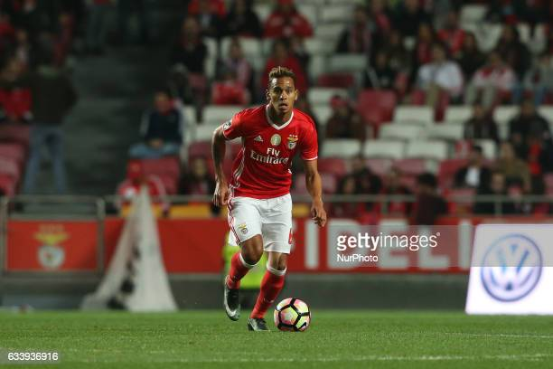 Benficas midfielder Filipe Augusto from Brazil during the Premier League 2016/17 match between SL Benfica v CD Nacional at Luz Stadium in Lisbon on...