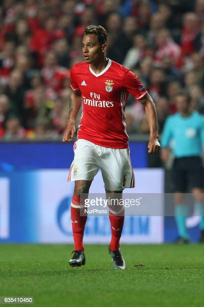 Benficas midfielder Filipe Augusto from Brazil during the SL Benfica v Borussia Dortmund UEFA Champions League16 Final match at Estadio da Luz on...