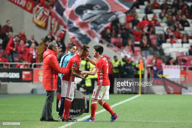 Benficas midfielder Filipe Augusto from Brazil in debut during the Premier League 2016/17 match between SL Benfica v CD Nacional at Luz Stadium in...