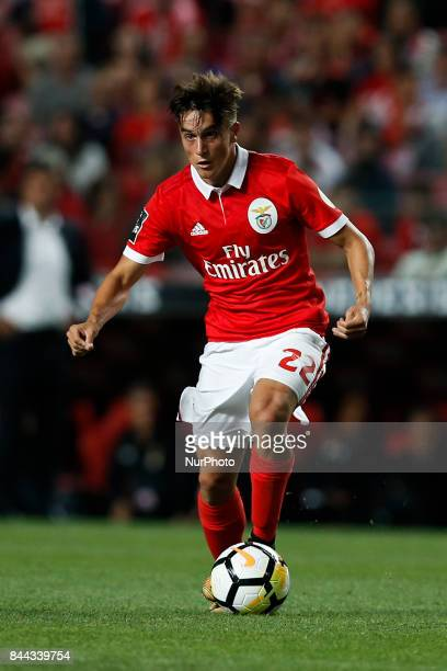 Benfica's midfielder Franco Cervi in action during Primeira Liga 2017/18 match between SL Benfica vs Portimonense SC in Lisbon on September 8 2017
