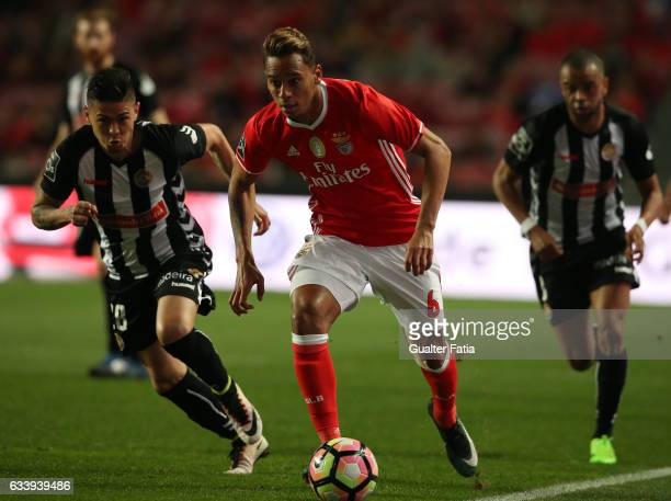 Benfica's midfielder from Brazil Filipe Augusto in action during the Primeira Liga match between SL Benfica and CD Nacional at Estadio da Luz on...