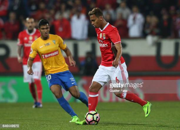 Benfica's midfielder from Brazil Filipe Augusto in action during the Portuguese Cup Semi Final First Leg match between GD Estoril Praia and SL...
