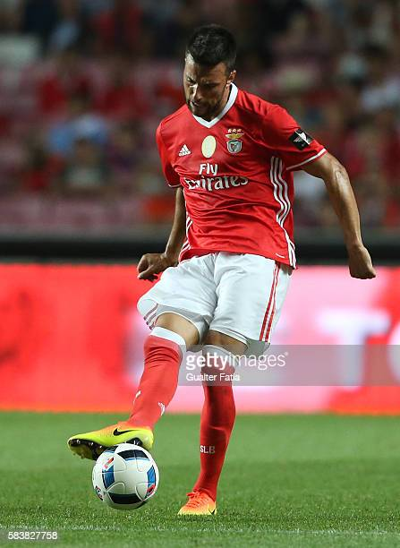 BenficaÕs midfielder from Greece Andreas Samaris in action during the Eusebio Cup match between SL Benfica and Torino at Estadio da Luz on July 27...