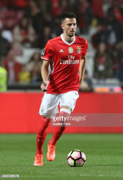 Benfica's midfielder from Greece Andreas Samaris in action during the Primeira Liga match between SL Benfica and GD Chaves at Estadio da Luz on...