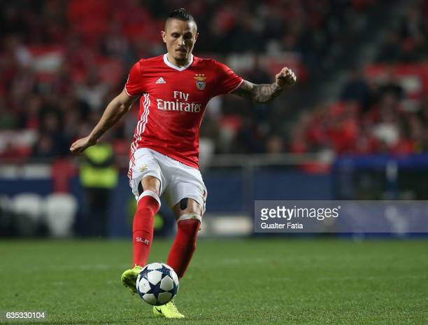 BenficaÕs midfielder from Serbia Ljubomir Fejsa in action during the UEFA Champions League Round of 16 First Leg match between SL Benfica and...
