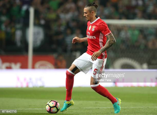 BenficaÕs midfielder from Serbia Ljubomir Fejsa in action during the Primeira Liga match between Sporting CP and SL Benfica at Estadio Jose Alvalade...